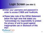 login screen see slide 5