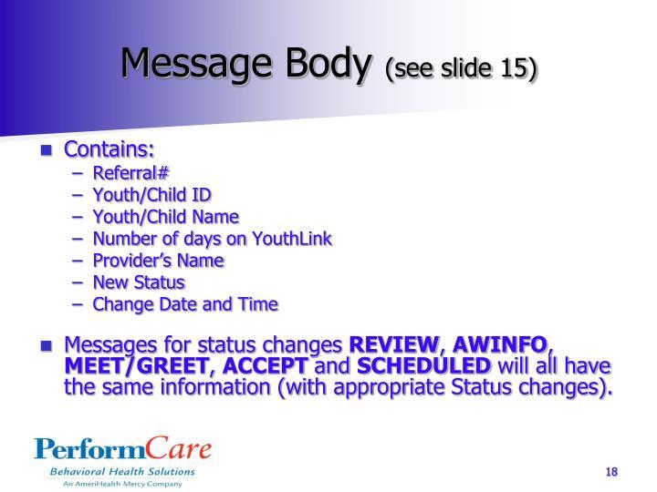 Message Body