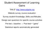 student assessment of learning gains