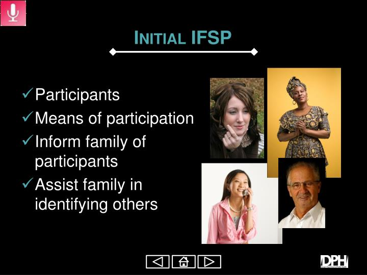 Initial IFSP