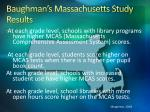 baughman s massachusetts study results