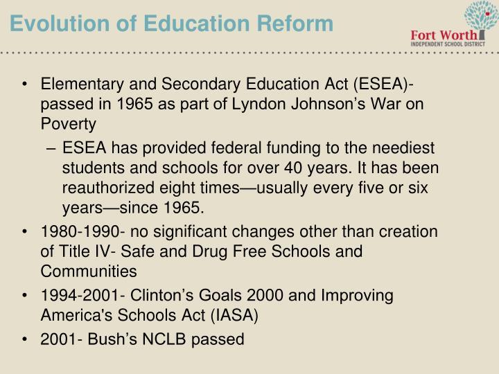 Evolution of Education Reform
