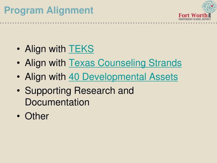 Program Alignment