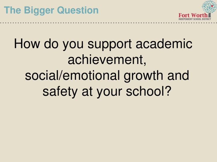 The Bigger Question
