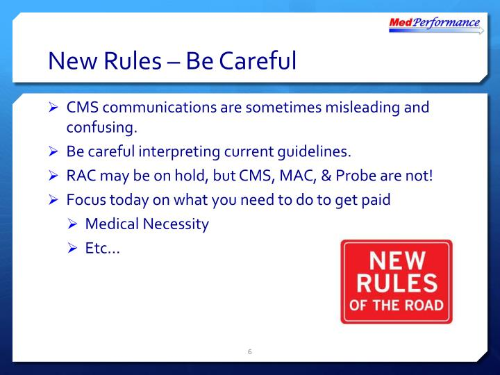 New Rules – Be Careful