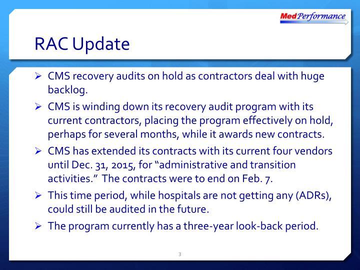 RAC Update