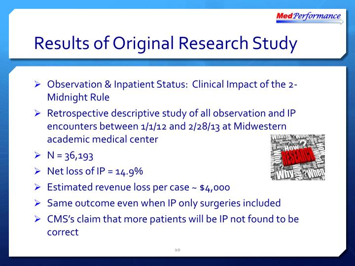 Results of Original Research