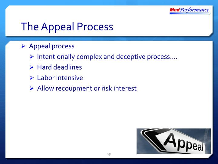 The Appeal Process