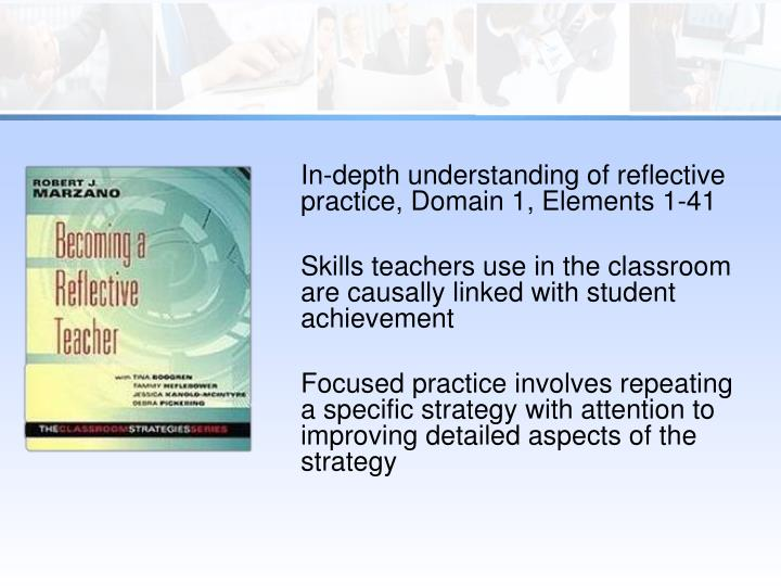 In-depth understanding of reflective practice,