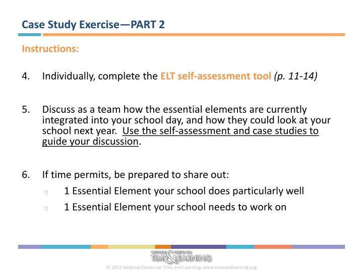 Case Study Exercise—PART 2