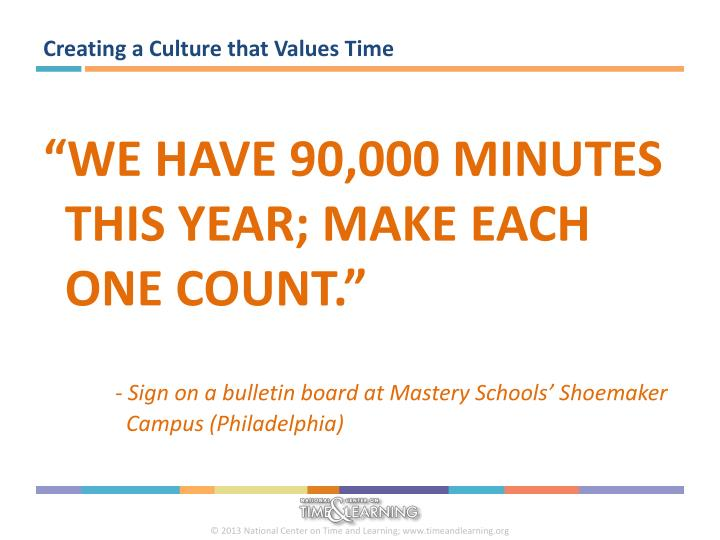 Creating a Culture that Values Time