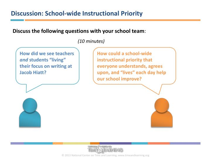 Discussion: School-wide Instructional Priority