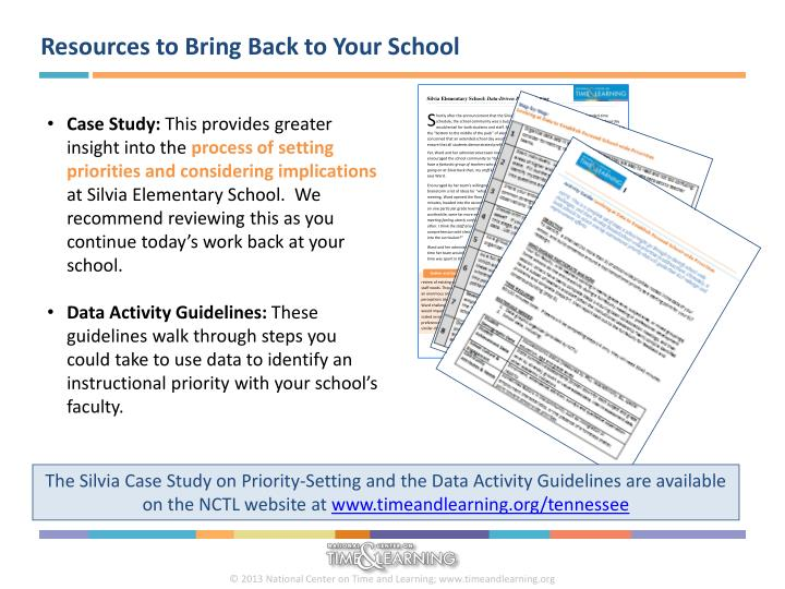 Resources to Bring Back to Your School