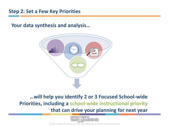 Step 2: Set a Few Key Priorities