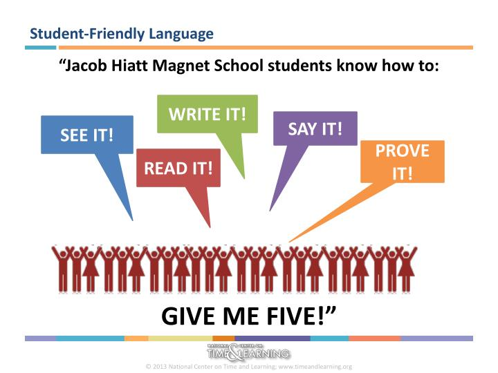 Student-Friendly Language