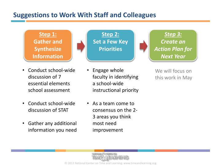 Suggestions to Work With Staff and Colleagues