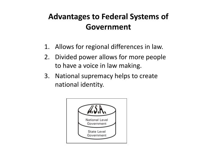 Advantages to Federal Systems of Government