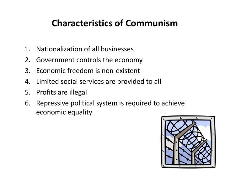 Characteristics of Communism