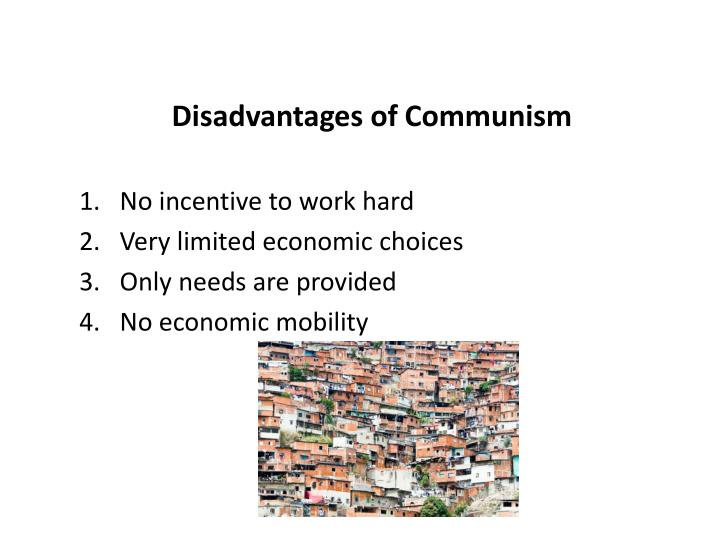 Disadvantages of Communism