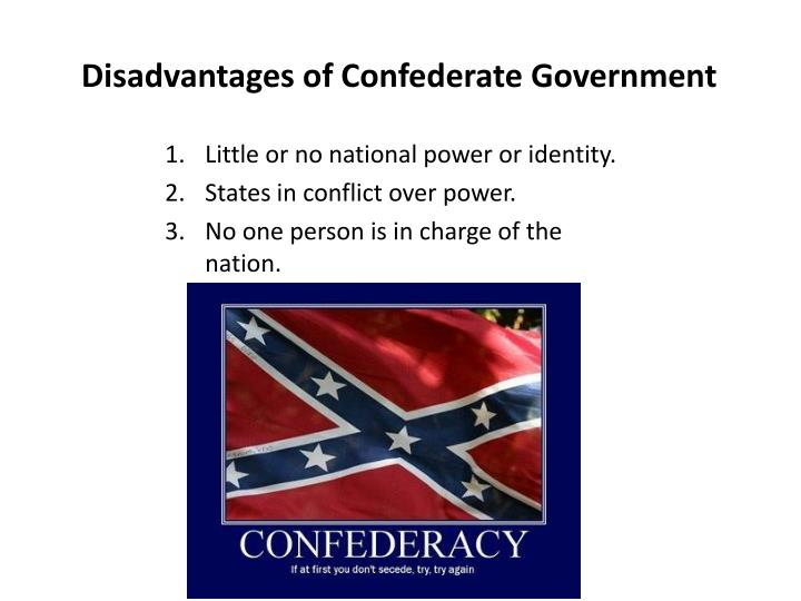 Disadvantages of Confederate Government