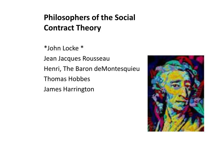 Philosophers of the Social Contract Theory