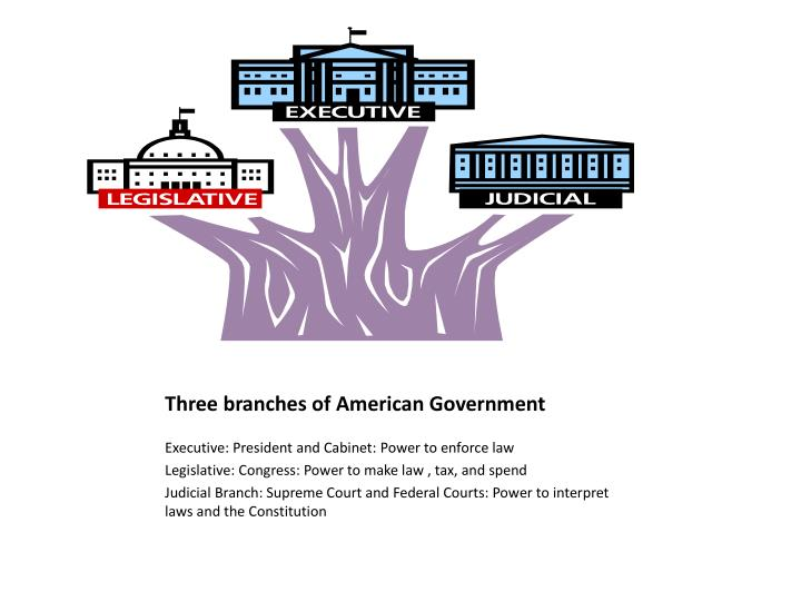 Three branches of American Government
