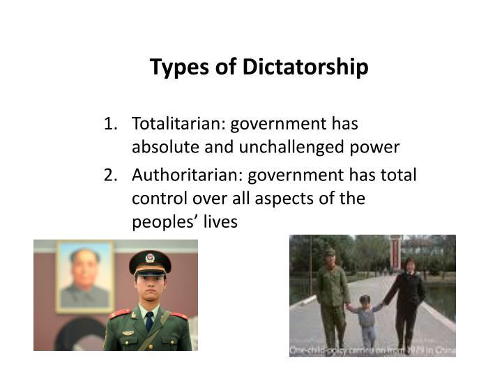 Types of Dictatorship