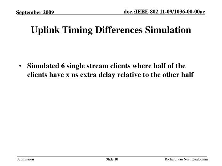 Uplink Timing Differences Simulation