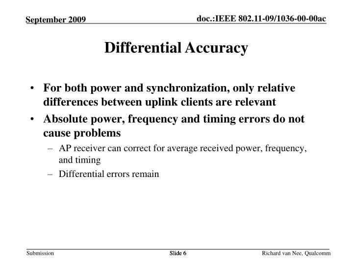 Differential Accuracy