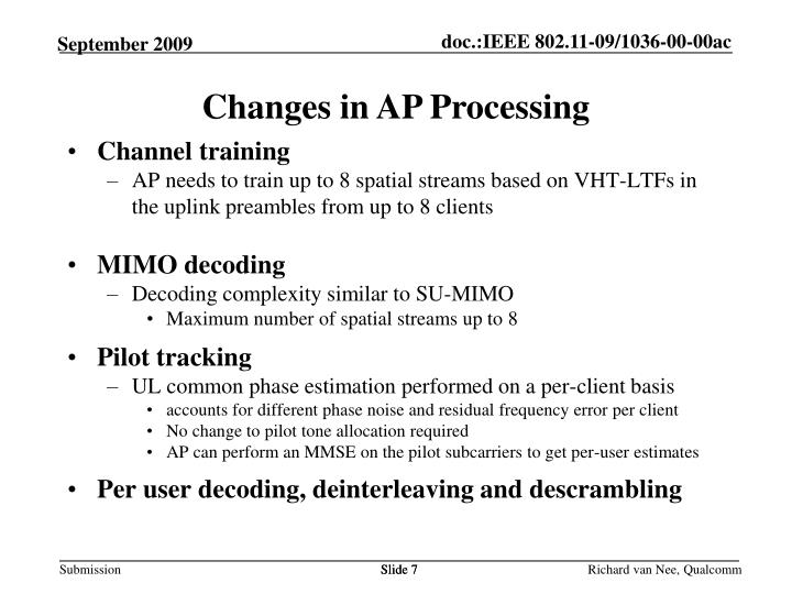 Changes in AP Processing