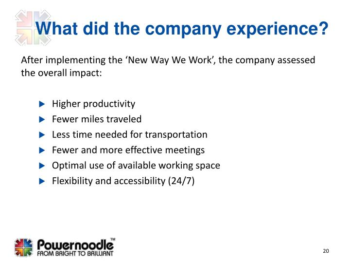 What did the company experience?