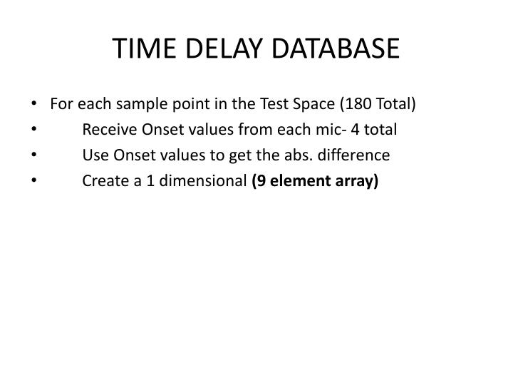 Time delay database2