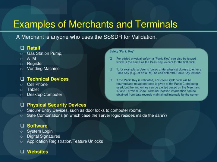 Examples of Merchants