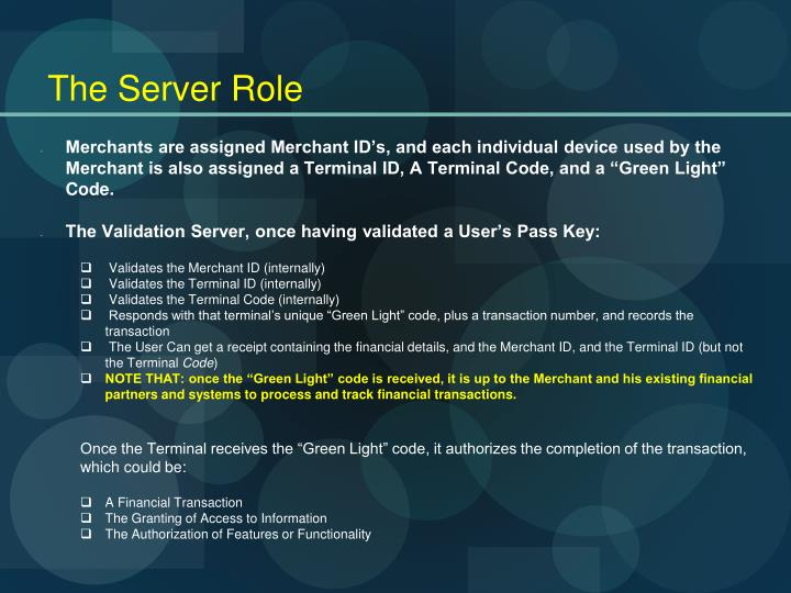 The Server Role