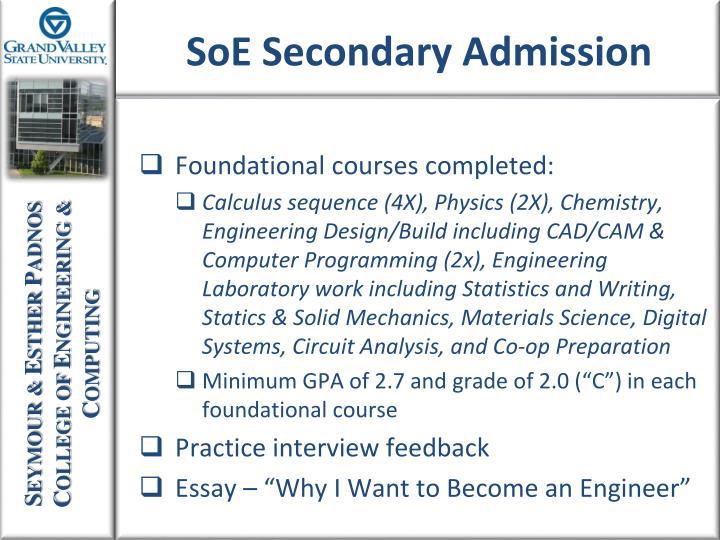 Foundational courses