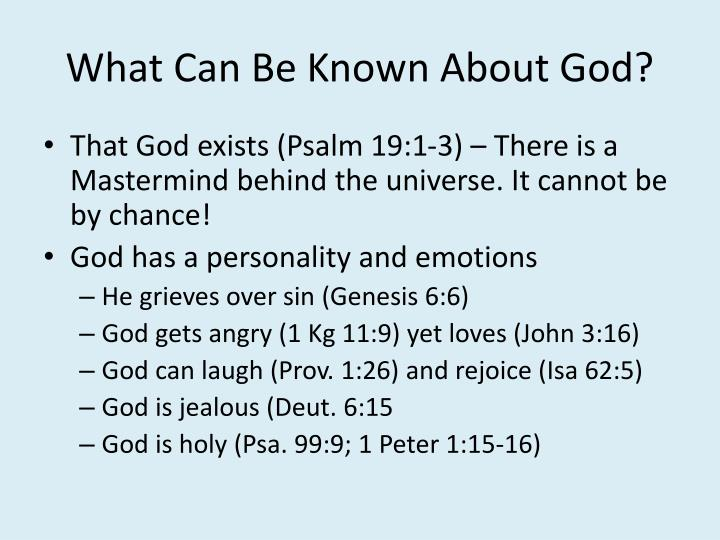 What Can Be Known About God?