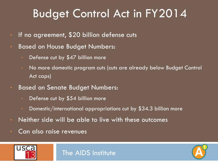 Budget Control Act in FY2014