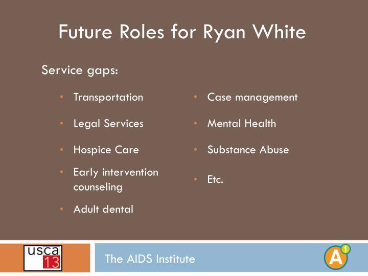 Future Roles for Ryan White