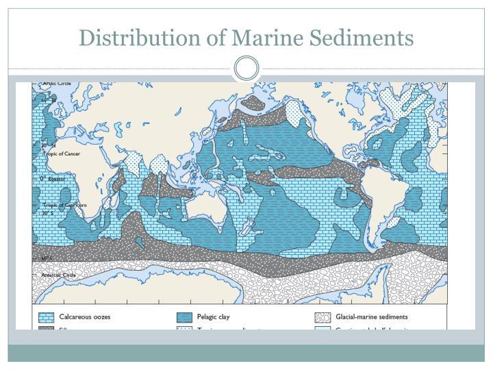 Distribution of Marine Sediments