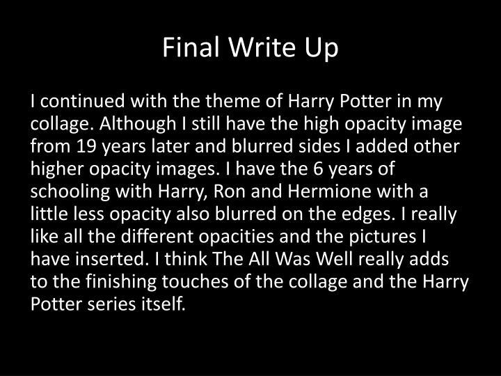 Final Write Up
