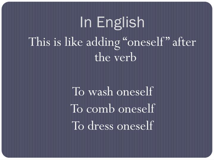 In English