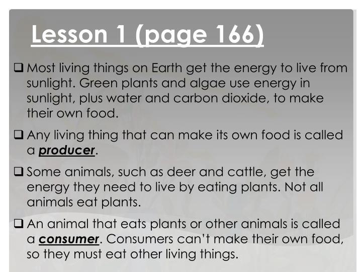 Lesson 1 (page 166)
