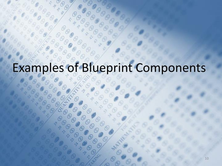 Examples of Blueprint Components