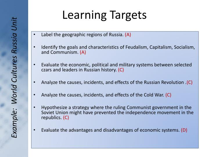 Example:  World Cultures Russia Unit