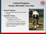 control program simple affordable two steps