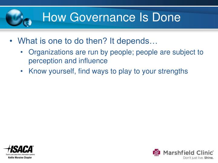How Governance Is Done