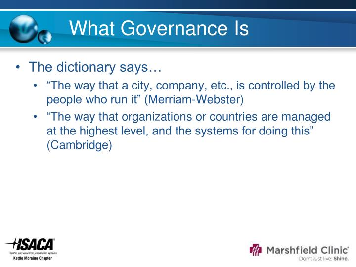 What Governance