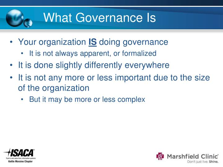 What Governance Is
