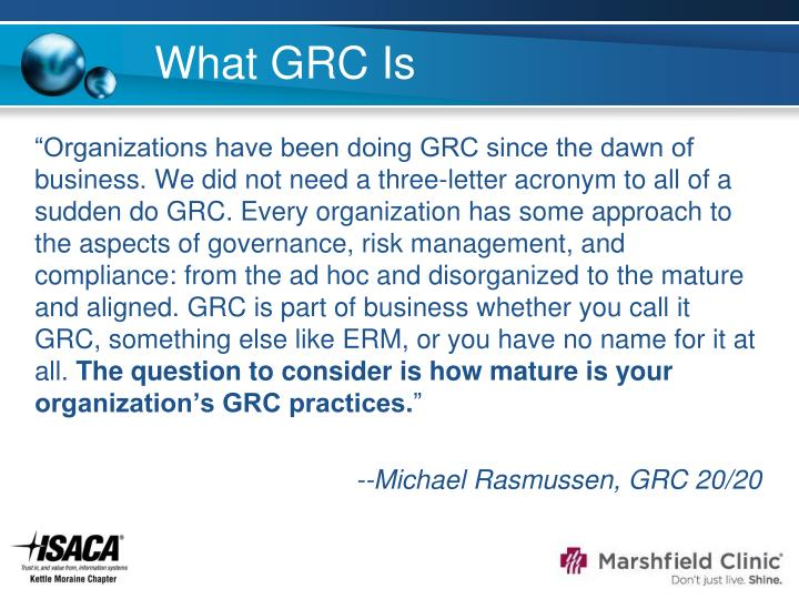 What GRC Is
