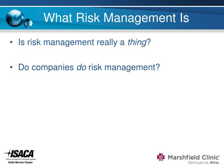 What Risk Management Is